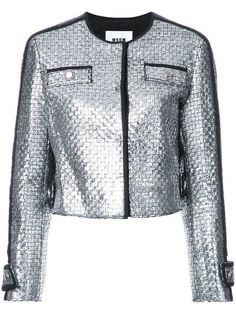 Msgm metallic tweed jacket silver women clothing,msgm fashion,Available to buy online, msgm ruffle shoes Satisfaction Guarantee Metallic Jacket, Gray Jacket, Jackets For Women, Clothes For Women, Jacket Pattern, Grey Pattern, Sports Jacket, Print Jacket, Msgm