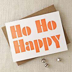 Letterpress Printed Seasonal Greetings