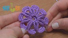 Crochet 8-petal 3D Flower Tutorial 5 (+playlist)