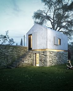 Dovecote on Behance Tyni House, Tiny House Cabin, Style At Home, Architecture Details, Interior Architecture, Zeitgenössisches Apartment, Barn Renovation, Small Buildings, Spanish House