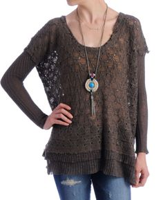Free People 'With a Kiss' Textured Knit Pullover Sweater