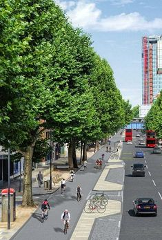Artist's impression of cycleway planned for London's Blackfriar's Road. Click image for link to full profile. Visit the slowottawa.ca boards >> https://www.pinterest.com/slowottawa/