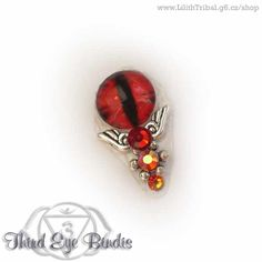 Sauron – tribal (steampunk) bindi - red