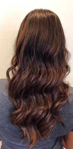 Long curl hair