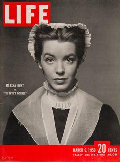 "Life Magazine cover, ""Marsha Hunt in 'The Devil's Disciple'"", March 6, 1950"
