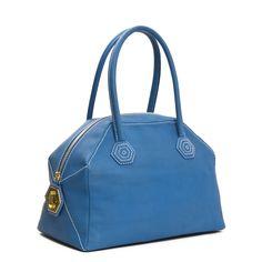 Jonathan Adler Blue Reina Hex Satchel in Handbags & Totes