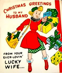 Ever lovin' lucky wife at Christmas.