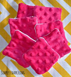 Adventures in Fabric Remnants - Makeup Remover Pads - Simply {Darr}ling
