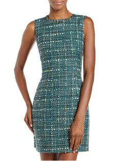 tweed shealth dress $85 - Fall Trend: Tweed & Plaid