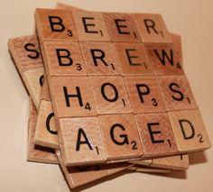 Scrabble Tile Bar | scrabble coasters