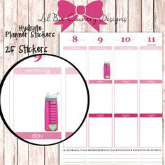Hydrate Planner Stickers by LilBitCountryDesigns on Etsy