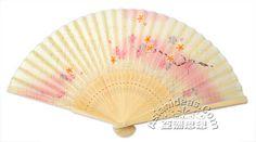 Pink Floral Silk Japanese Hand Fan