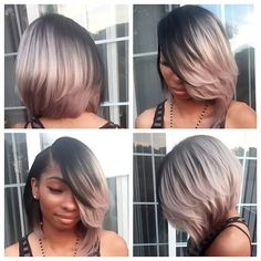#hairinspiration #greyhair  Look at this BOMB grey bob by hairstylist @millyraihair !!! ✨ This is definitely a super cute style, right?! Who would rock it, girls??? #rp #repost #haircolor #haircut #shorthair #bob #rpgshow #greyhair #hair #nicehair #boldhair #sexy #hairstylist #rock