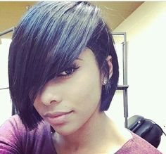 - Page 3 of 3 If you have rather coarse and thick hair, you may want to consider having short bob hairstyles 2017 for black women. Black women have their own hair charac Short Hair Cuts, Short Hair Styles, Natural Hair Styles, Bob Styles, Love Hair, Gorgeous Hair, Hair Colorful, Relaxed Hair, Short Bob Hairstyles