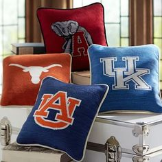 Collegiate Needlepoint Pillow #pbteen