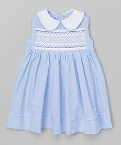 Look what I found on #zulily! Sweet Dreams Blue & White Gingham Sammy Dress - Infant, Toddler & Girls by Sweet Dreams #zulilyfinds