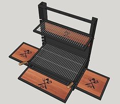 Barbecue Design, Grill Design, Bbq Grill, Grilling, Balcony Bar, Pizza Oven Outdoor, Backyard Seating, Steel Furniture, Backyard Projects