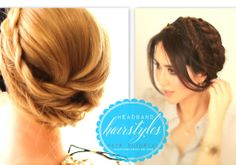 Fall hairstyle idea   Lace headband milkmaid braids   Hair tutorial