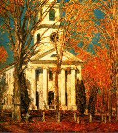 The Church painting of falltime
