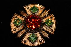 Large Dodds Rhinestone Brooch Pendant by SomeLoveItVintage on Etsy