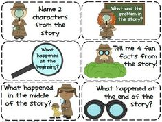 Be a Reading Detective! Comprehension Task Cards & Bookmarks