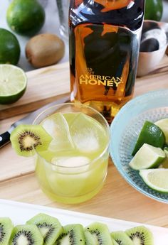 For something refreshing this weekend serve up kiwis and Wild Turkey American Honey in a Key Lime Smash.