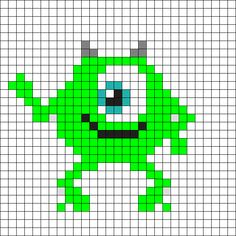Mike_Wazowski by BreAnda_98 on Kandi Patterns