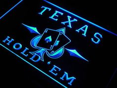 Insegna al neon Texas Hold'em Poker Casino Neon Light Sign Poker Party, Sign Display, Thing 1, 3d Laser, Sign Lighting, Neon Light Signs, Led Neon Signs, Making Waves, Shop Signs
