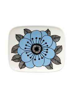 Oiva/Kestit-lautanen 15 x 12 cm Marimekko Scandi Home, Kitchenware, Tableware, Marimekko, Kitchen Accessories, Plates, Garlands, Retro, Decoration