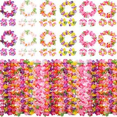 12 Hibiscus Flowers Lei Hawaiian Hiar Clips5.5 for Costume Birthday Party Favors Luau Party Supplies Set 12 Hawaiian Flower Leis 36 Decoration Supplies By 4E/'s Novelty 12 Hawaiian Flower Leis 36/'/' 4E/'s Novelty