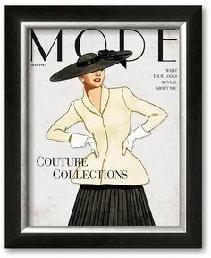 "Couture! This framed art print is perfect for the fashionista in your life. Shop our full selection of framed wall art at Kohls.com. <ul> <li>High-quality print produces vibrant colors.</li> <li>Hand-crafted frame from the finest grade of wood exudes elegance.</li> <li>Details:</li> <li>Name: ""Mode""</li> <li>16.75""H x 13.75""W</li> <li>Vertical display</li> <li>Mounting hard"