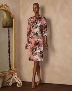 Etuikleid aus cady mit rosenprint Für Sie - Kleider Für Sie auf Dolce&Gabbana Online Store Deutschland - Dolce & Gabbana Group