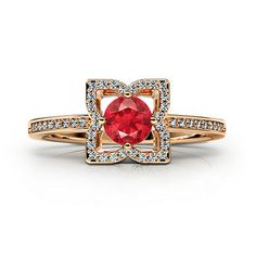 Look at this design ... Floral Love Engagement Ring from Gemify ... It's really gorgeous.