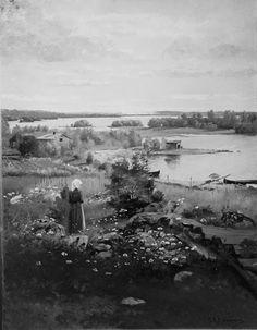 Yllä on S.A.Keinäsen 1880-luvulla maalaamasta Häme-aiheisesta taulusta Daniel Nyblinin tekemä valokuva. Lainasin sen Kaisa Kyläkosken b...