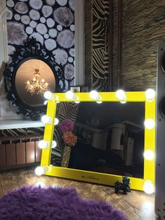 9 Wall surface embellishing suggestions that will certainly make your room not dull, also much better compared to just what you have seen thus far Bulb Mirror, Wood Mirror, Mirror With Lights, Easy Wall, Wall Decor, Rustic, Frame, Interior, Creative