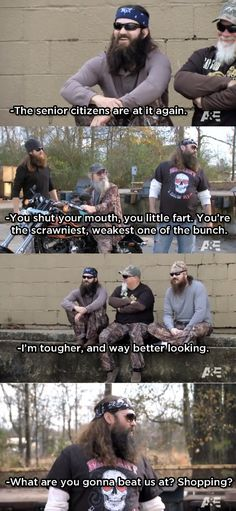 Willie- Beat us at shopping... Duck Dynasty Quotes
