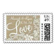 Vintage Style Lace Design Love Postage Stamps. This great stamp design is available for customization or ready to buy as is. Of course, it can be sent through standard U.S. Mail. Just click the image to make your own!