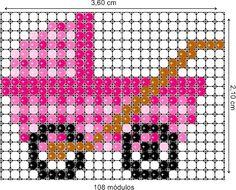 Projeto de balões - Carrinho rosa de bebê / Criação - Rosilene Pereira