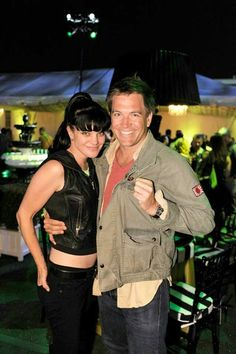 Pauley Perrette and Michael Weatherly (Abby and Tony - NCIS)