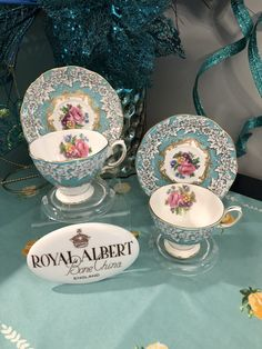 """Pretty little demitasse's Royal Albert """"Enchantment"""" these demi's are in the Malvern shape! Bone China Tea Cups, Vintage Dishes, China Patterns, Royal Albert, High Tea, Afternoon Tea, Pretty Little, Tea Time, Dinnerware"""