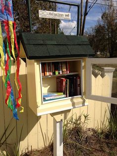 Little Free Library - I dig this. Thanks @Megan Looney for showing it to me.