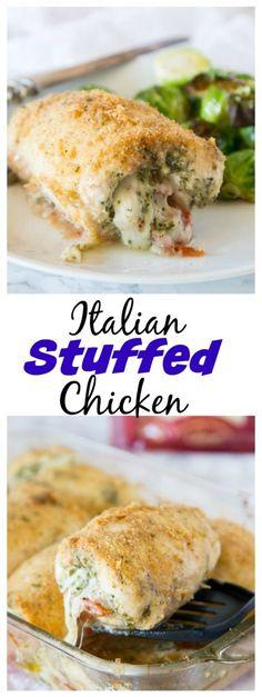Best Chicken Recipes, Turkey Recipes, Chicken Meals, Rolled Chicken Recipes, Boneless Chicken, Italian Stuffed Chicken, Pesto Stuffed Chicken, Stuffed Chicken Breasts, Stuffed Tomatoes