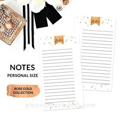 printable planner pages Rose Gold A5 Planner Inserts by Red Peach Designs on @creativemarket (affiliate)