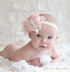 2716923e50f Baby Girls Kids Lovely Roses Pearls Hair Bands Vintage Flowers Hair  Accessories Pretty Headbands Infant Headbands 13 Color B0151