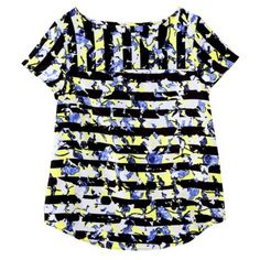 Peter Pilotto for Target Top -Green Floral Stripe Print              $15