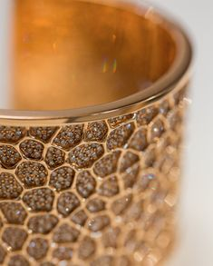 Mish New York Honeywood Cuff set with 18k rose gold with brown diamond pavé with a double-hinged closure | mishnewyork.com #cuff