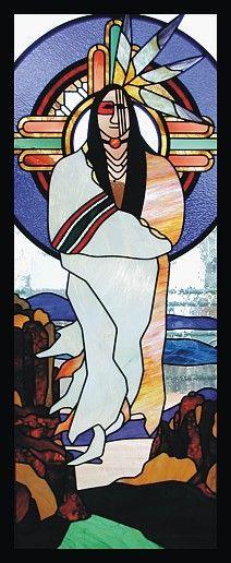 native american art,indian art,native american stained glass,spiritual art,religious art