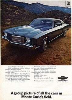 1970 GM Monte Carlo Advertising Newsweek December 1969