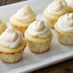 Mini Lemon Cupcakes with Perfect Silky Buttercream