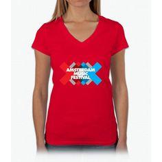 Amsterdam Music Festival - AMF Womens V-Neck T-Shirt